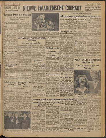 Nieuwe Haarlemsche Courant 1948-08-09