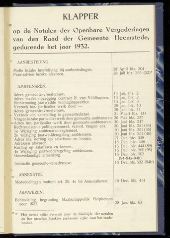 Raadsnotulen Heemstede 1932-01-01