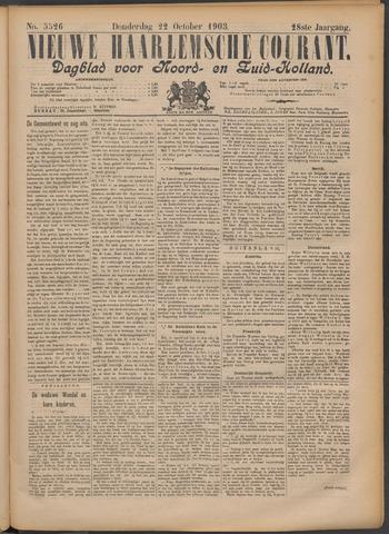 Nieuwe Haarlemsche Courant 1903-10-22