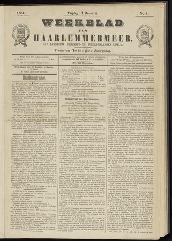 Weekblad van Haarlemmermeer 1881-01-07