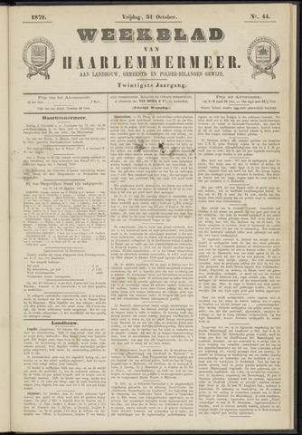 Weekblad van Haarlemmermeer 1879-10-31