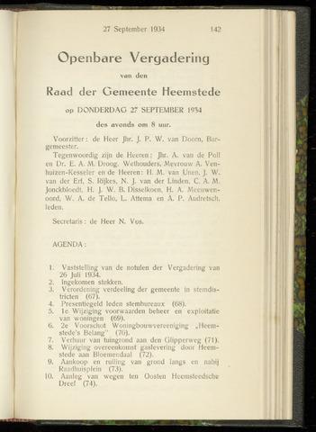Raadsnotulen Heemstede 1934-09-27