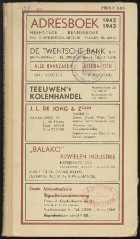 Adresboeken Heemstede, Bennebroek 1942