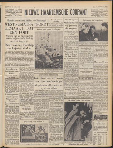 Nieuwe Haarlemsche Courant 1958-04-10