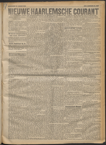 Nieuwe Haarlemsche Courant 1920-01-29