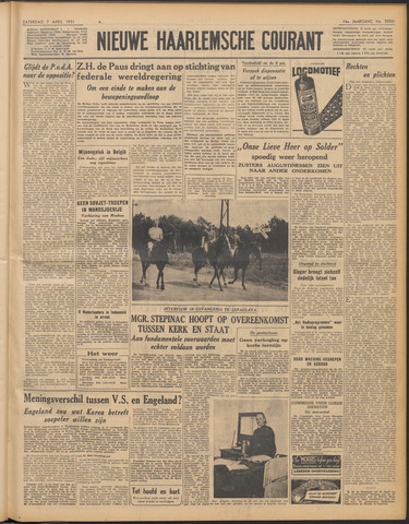 Nieuwe Haarlemsche Courant 1951-04-07