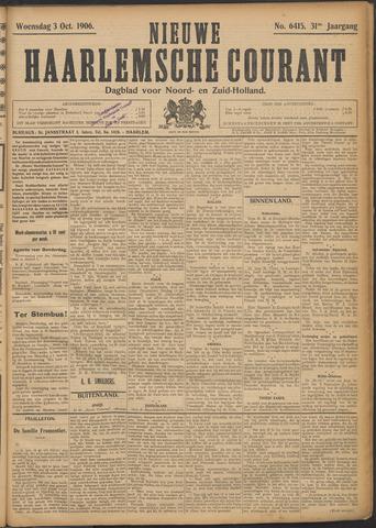 Nieuwe Haarlemsche Courant 1906-10-03