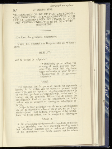 Raadsnotulen Heemstede 1932-10-27