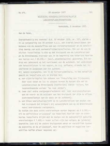Raadsnotulen Heemstede 1977-11-24
