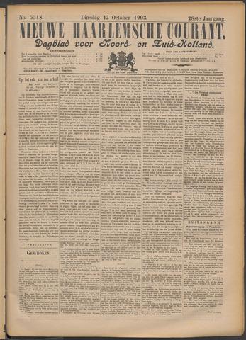 Nieuwe Haarlemsche Courant 1903-10-13