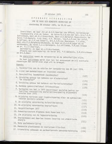 Raadsnotulen Heemstede 1976-10-28