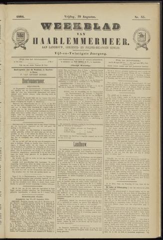 Weekblad van Haarlemmermeer 1884-08-29