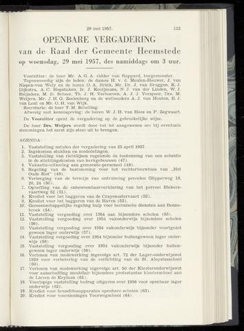 Raadsnotulen Heemstede 1957-05-29