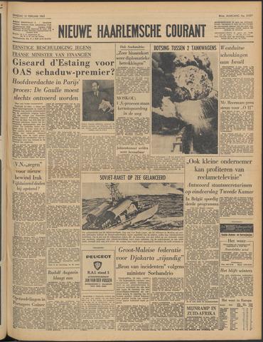 Nieuwe Haarlemsche Courant 1963-02-12