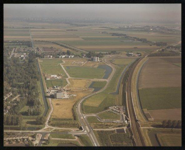 Luchtfoto Beukenhorst in aanbouw.