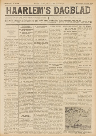 Haarlem's Dagblad 1926-11-03
