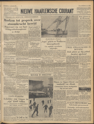 Nieuwe Haarlemsche Courant 1954-01-07