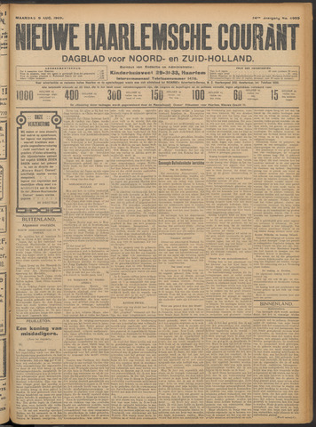 Nieuwe Haarlemsche Courant 1909-08-09