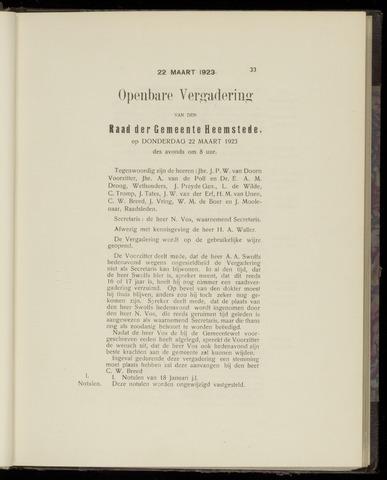 Raadsnotulen Heemstede 1923-03-22