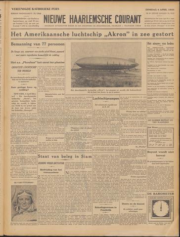 Nieuwe Haarlemsche Courant 1933-04-04