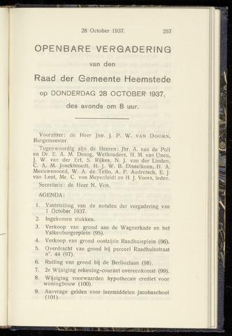 Raadsnotulen Heemstede 1937-10-28