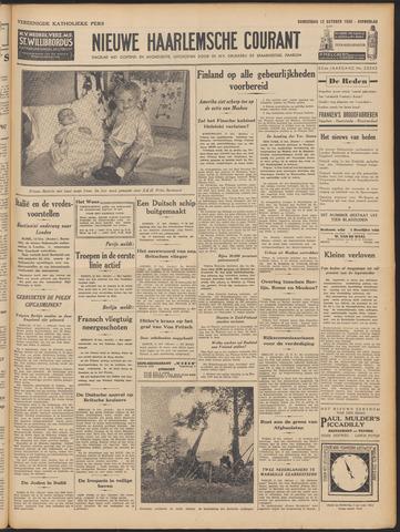 Nieuwe Haarlemsche Courant 1939-10-12