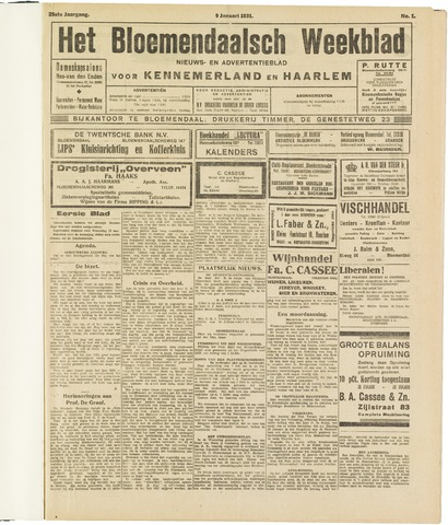 Het Bloemendaalsch Weekblad 1931
