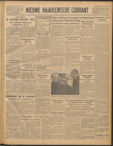 Nieuwe Haarlemsche Courant 1949-10-01