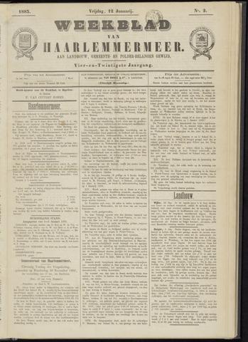 Weekblad van Haarlemmermeer 1883-01-12