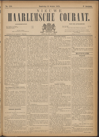 Nieuwe Haarlemsche Courant 1878-10-24