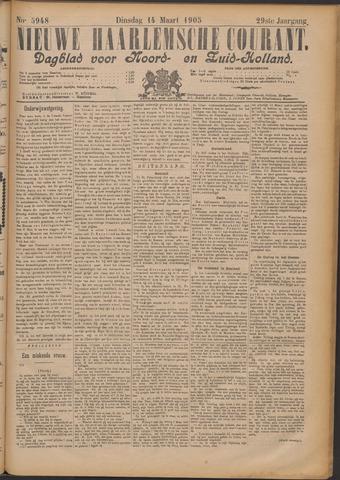 Nieuwe Haarlemsche Courant 1905-03-14