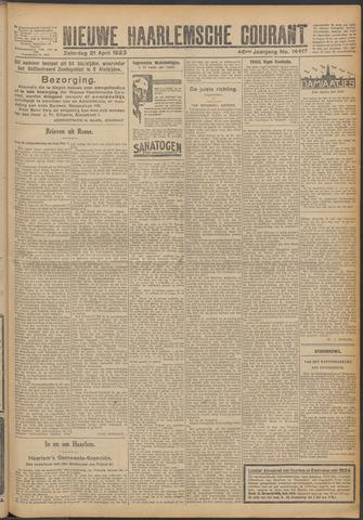 Nieuwe Haarlemsche Courant 1923-04-21