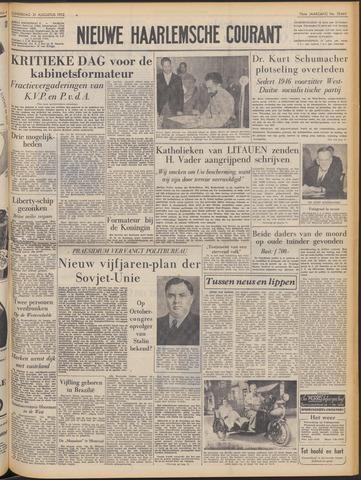 Nieuwe Haarlemsche Courant 1952-08-21