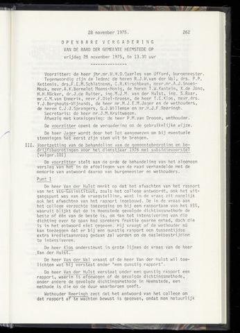 Raadsnotulen Heemstede 1975-11-28