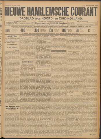 Nieuwe Haarlemsche Courant 1909-07-19