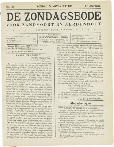 De Zondagsbode voor Zandvoort en Aerdenhout 1912-11-24