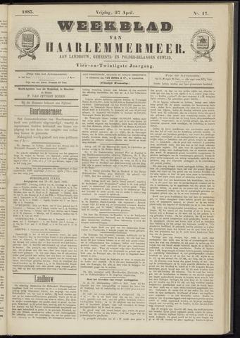 Weekblad van Haarlemmermeer 1883-04-27