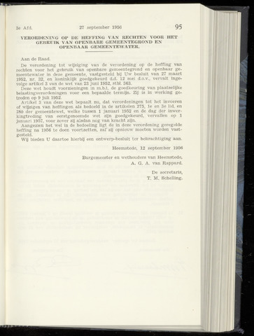 Raadsnotulen Heemstede 1956-09-27
