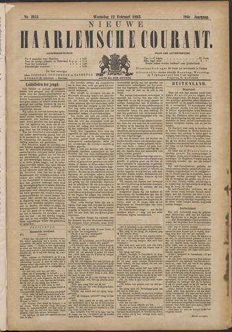 Nieuwe Haarlemsche Courant 1893-02-22
