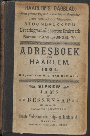 Adresboeken Haarlem 1901-01-01