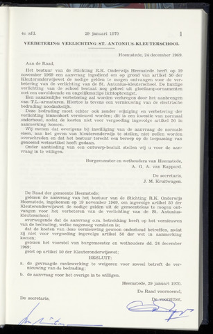 Raadsnotulen Heemstede 1970-01-29