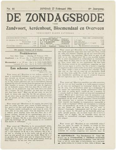 De Zondagsbode voor Zandvoort en Aerdenhout 1916-02-27
