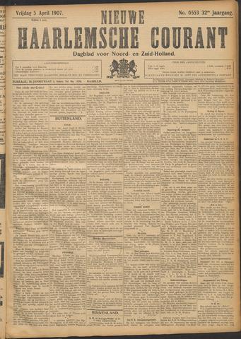 Nieuwe Haarlemsche Courant 1907-04-05