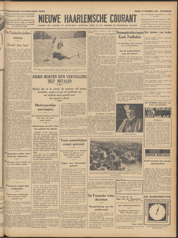 Nieuwe Haarlemsche Courant 1938-11-13