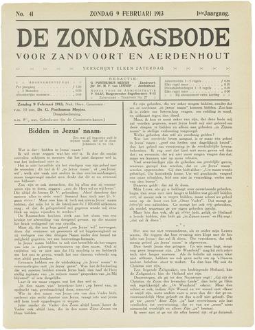 De Zondagsbode voor Zandvoort en Aerdenhout 1913-02-09
