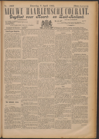 Nieuwe Haarlemsche Courant 1905-04-08
