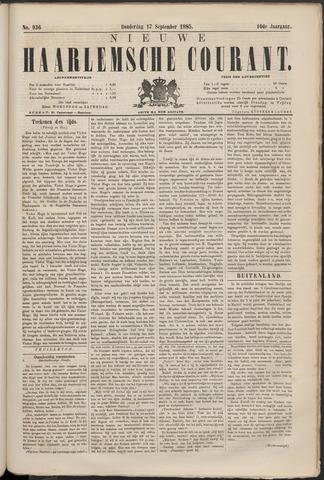 Nieuwe Haarlemsche Courant 1885-09-17