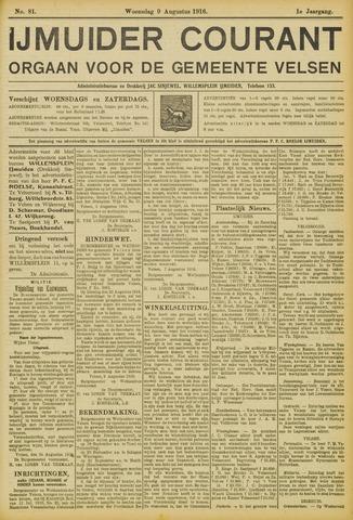 IJmuider Courant 1916-08-09
