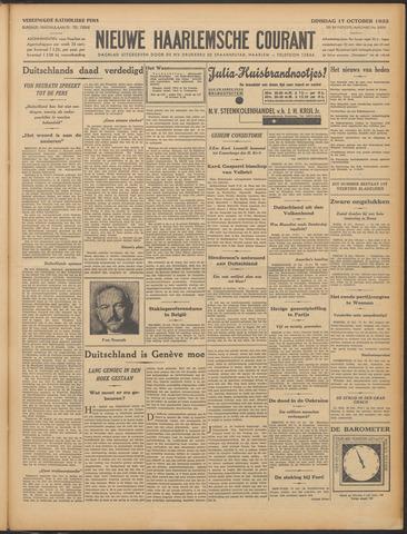 Nieuwe Haarlemsche Courant 1933-10-17