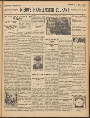 Nieuwe Haarlemsche Courant 1934-04-25